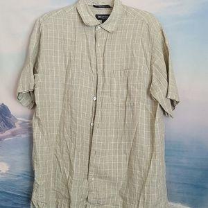Men's Brandini Shirt Short Sleeve Button Down L